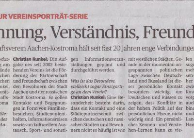 Versöhnung, Verständnis, Freundschaft – Aachener Sonntagszeitung 16.05.2021